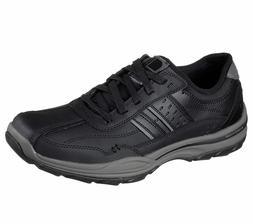 65055 Black Skechers shoes Men Memory Foam Lace Up Casual Co