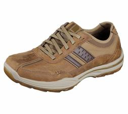 65055 Brown Skechers shoes Men Memory Foam Lace Up Casual Co