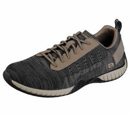 65182 Khaki Skechers shoe Men Memory Foam Casual Comfort Oxf