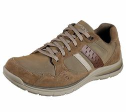 65203 brown shoes men memory foam dress