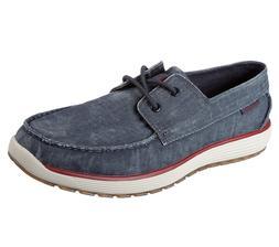 Skechers shoes Navy Men Memory Foam Boat Casual Canvas Comfo