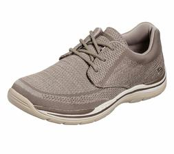 Taupe Skechers shoes Men Memory Foam Casual Comfort Oxford S