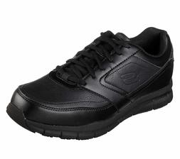 Skechers Work Shoes Wide Fit Black Memory Foam  Men Comfort