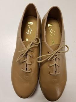 Bloch Adult Oxford Tap Shoes, Tan or CAR, 9.5, SO301 With Te