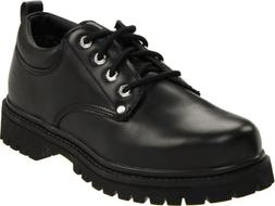 Skechers Men's Alley Cats Utility Oxford,Black Smooth,10 M U
