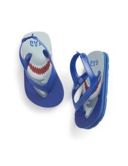 GAP Baby Boy Toddler Shark Flip Flop Sandals Beach Water Sho