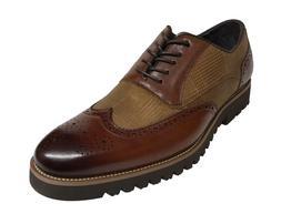 Stacy Adams Baxley Men's Oxford Wing Tip Cognac Shoes 25217-