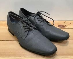 Calvin Klein Benton Mens Oxfords Dress Shoes US Size 9 Gray
