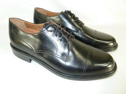 BOSTONIAN Black Cap Toe Oxford Shoes 9.5 M, Made in Italy