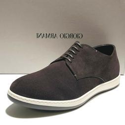 Giorgio ARMANI Black Leather Dress Men's Oxford Casual Fashi