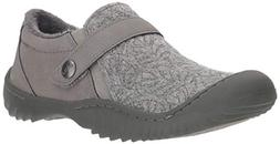 JBU by Jambu Women's Blakely Oxford Flat Grey 8.5 Medium US