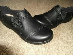 BN Women's Clarks Cheyenne Madi Black Leather Oxford Shoes S