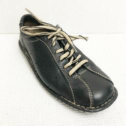 BORN Womens Black Leather Oxford Shoes Hawkeye Size 6.5 / 37