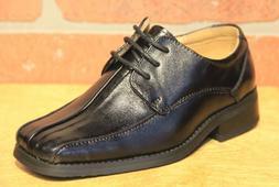 La Milano Boy's Black Genuine Leather Oxford Dress Shoes Sty