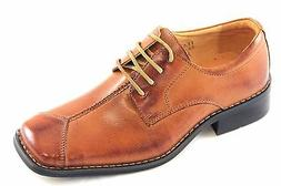 La Milano Boy's Tan Genuine Leather Oxford Dress Shoes Style
