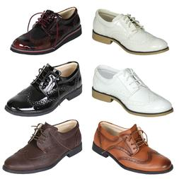 Boys Oxford Shoes Kids Brogue Shoes Boys Formal Classic Shoe