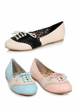 Ellie Shoes BP100-HALLE Women's 1 Inch Oxford Flat