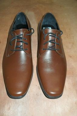 Calvin Klein Brodie Leather Plain Toe Oxfords