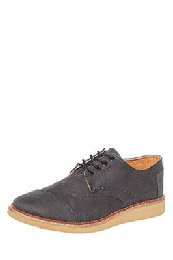 TOMS Men's Brogue Ash Aviator Twill Oxford 11.5 D