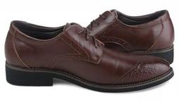Kunsto Brogue Men's Shoes Oxford Lace Up Casual Dress Comfor