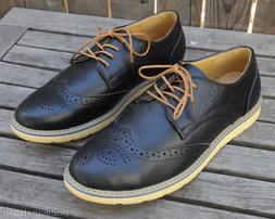 Kunsto Brogue Men's Shoes Oxford  Lace Up Casual Business Co