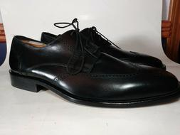 BOSTONIAN  BROGUE WING TIP OXFORDS BLACK LEATHER LACE UP DRE
