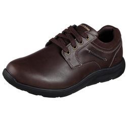 Brown Skechers shoes Dressy Men's 65329 Memory Foam Sport Ca