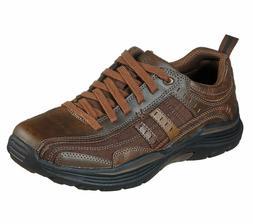 Brown shoes Men's Memory Foam Skechers Sport Casual Comfort