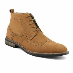 Bruno Marc Men's URBAN-02 Tan Suede Leather Lace Up Oxfords