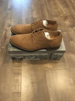 Bruno Marc Men's URBAN-03 Tan Suede Leather Lace Up Oxfords