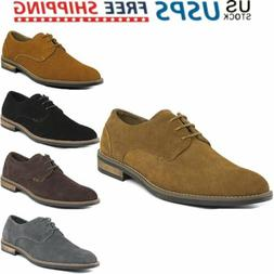 BRUNO MARC Mens Leather Suede Lace up Dress Formal Oxfords C