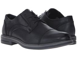 IZOD CABOT Mens Black Bridge Casual Cap Toe Oxford Shoes