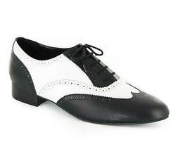 Bloch Capone Mens Black and White Wing Tip Shoe S0867M