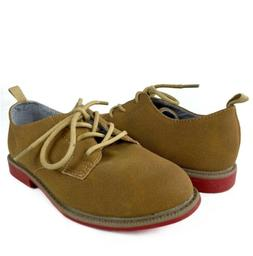 CARTERS Boys Oxford Shoes Size 11 C Tan Beige Casual Spencer