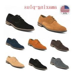 Classic Men's Suede Leather Lace up Bussiness  Casual Round