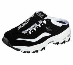 Skechers D'lites shoes Women Black Slip On Clog Casual Comfo
