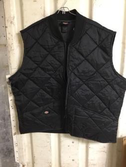 Dickies Men's Diamond Quilted Nylon Vest, Dark Navy, Large