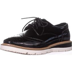 Wanted Womens Downey Black Patent Oxford - 10