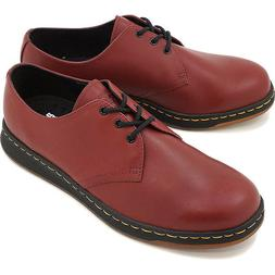 Dr. Doc Martens Cavendish 3-Eye Cherry Leather Oxford Shoes