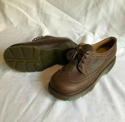 DR MARTENS Brown Leather Wingtip Oxford lace up Shoes AW04 U