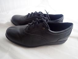 Dr. Scholl's Leather tie Oxford Black walking shoes double a