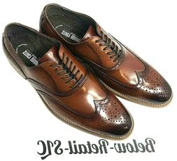 Stacy Adams Dunbar Cognac Wingtip Oxford Dress Shoes Men's S