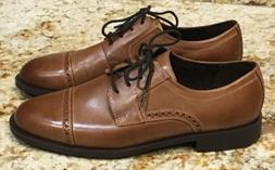 COLE HAAN Dustin British Tan Leather Oxford Lace Up Shoes NE