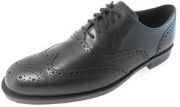 COLE HAAN DUSTIN WINGTIP OXFORD II MEN'S BLACK LEATHER SHOES