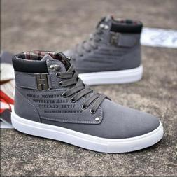 Fashion Mens Oxfords Casual High Top Shoes Leather Shoes Can