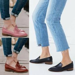 Fashion Women Flats Slip On Pumps Oxfords Loafers Casual Wor
