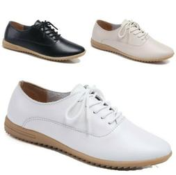 Fashion Women's British Style Oxfords Casual Comfort Round T