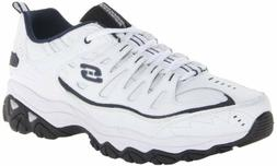 Skechers Sport Men's Fit Reprint Oxford,White Navy,10 4E US