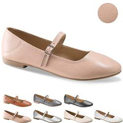 CINAK Flats Mary Jane Shoes Women's Casual Comfortable Wal