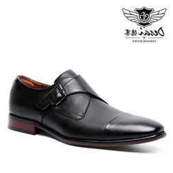 DESAI <font><b>Men</b></font>'s Dress Genuine Leather Casu